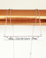 """Large Graffiti bar Necklace in 14k White Gold featuring our custom """"Graffiti"""" handwriting style"""