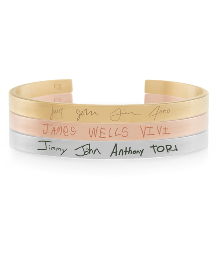 Graffiti Bracelets featuring kids of all ages names in their handwriting