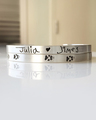 Custom paw print commemorative bracelet and kids' handwritten names bracelet in silver
