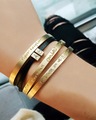 Kids handwriting bracelets in Yellow Gold Vermeil