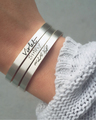 Handwritten bracelets in Sterling Silver