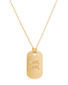 """Aquarius"" Diamond Tag in 18k Yellow Gold Vermeil"