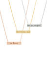 Small Graffiti Bar Necklaces featuring Handwritten Messages from Loved Ones