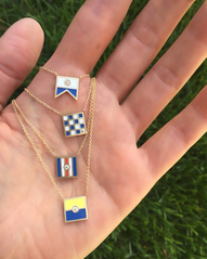Nautical Flag Pendants in A, N, C and K