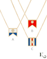 Code Flag Pendants in A, B, C