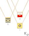 Code Flag Pendants in G, H, I