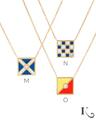 Code Flag Pendants in M, N, O