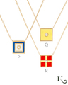 Code Flag Necklaces in P, Q, R