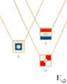 Code Flag Necklaces in S, T, U