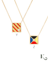 Code Flag Necklaces in Y and Z