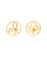 """I Do"" Ear Studs in 18k Yellow Gold Vermeil"