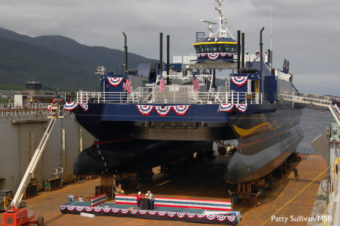 The ferry Susitna near completion at Alaska Ship and Drydock. Photo by Patty Sullivan, Mat-Su Borough