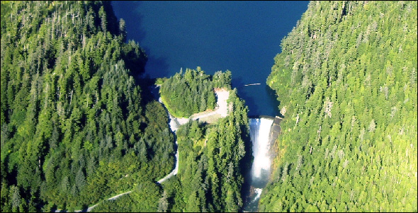 Sitka's Blue Lake hydroproject, which is being expanded.