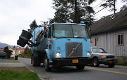 Juneau would get new collection trucks, like this one in Sitka.  Photo courtesy: Ed Ronco