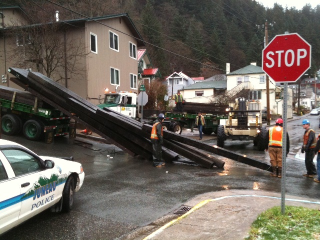 Truck Loses Load On Gold Street