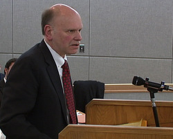 Attorney Tony Sholty arguing for Ray Coxe