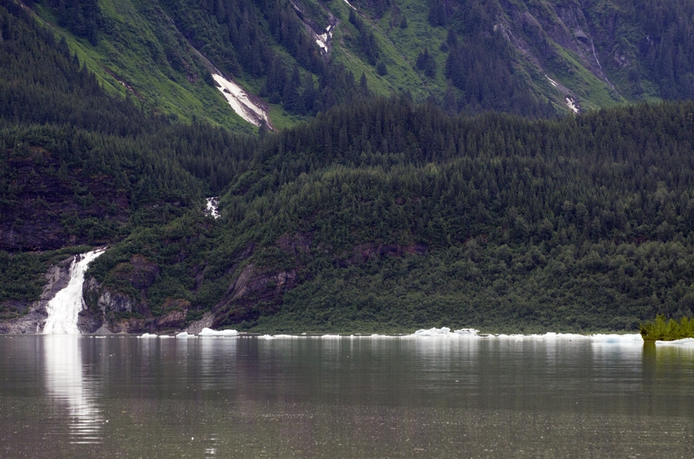 A view across Mendenhall Lake on July 6, 2012.