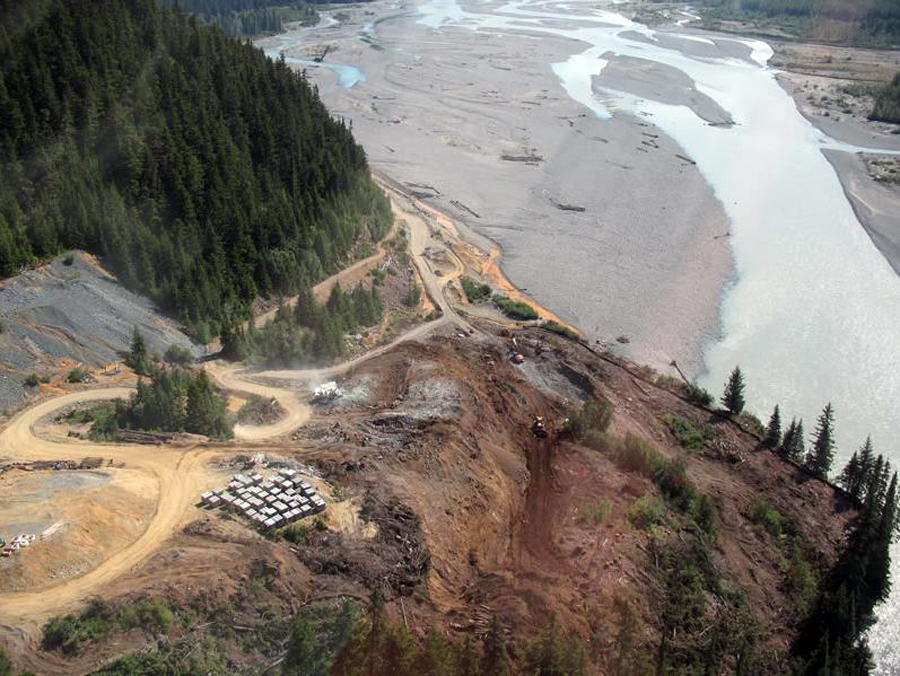 Aerial view of the Tulsequah mining area.