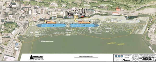 Proposed changes to the Juneau docks. Drawing courtesy of CBJ.