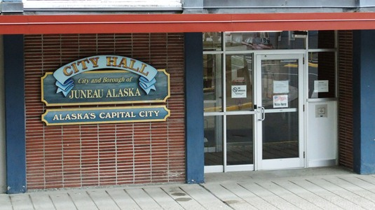 On the day of the deadline, seven Juneau residents filed for candidacy at city hall. (KTOO file photo)