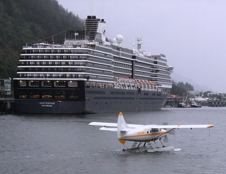 The Oosterdam was the last ship to visit Juneau for the 2012 cruise ship  season.  Photo by Rosemarie Alexander.
