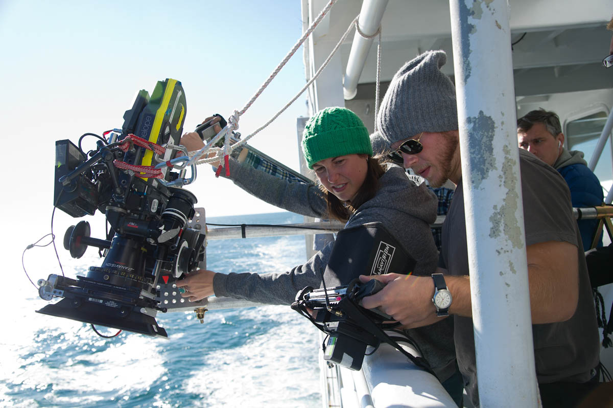 Filming on the ferry. Production photo courtesy of Wildlike