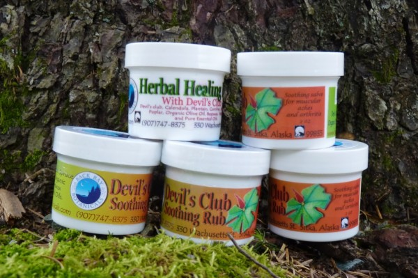 Back Bay Botanicals products include devil's club soothing rub and healing ointment.