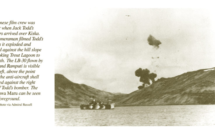 Published photo of crashed B-24 after it was hit by anti-aircraft fire.