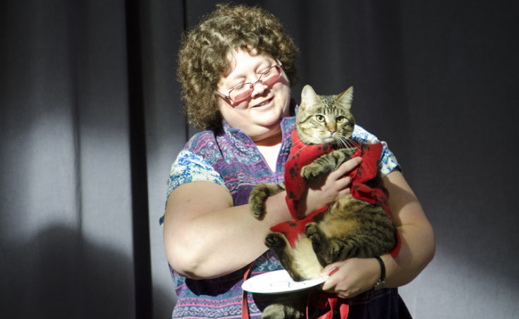 Yedidiah-also known as Mighty Dat--was the only cat in the competition.