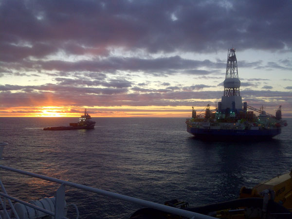 In 2012 Shell explored wells in the Chukchi and Beafort Sea. At the end of the season, the Kulluk drilling rig later grounded while being towed south.