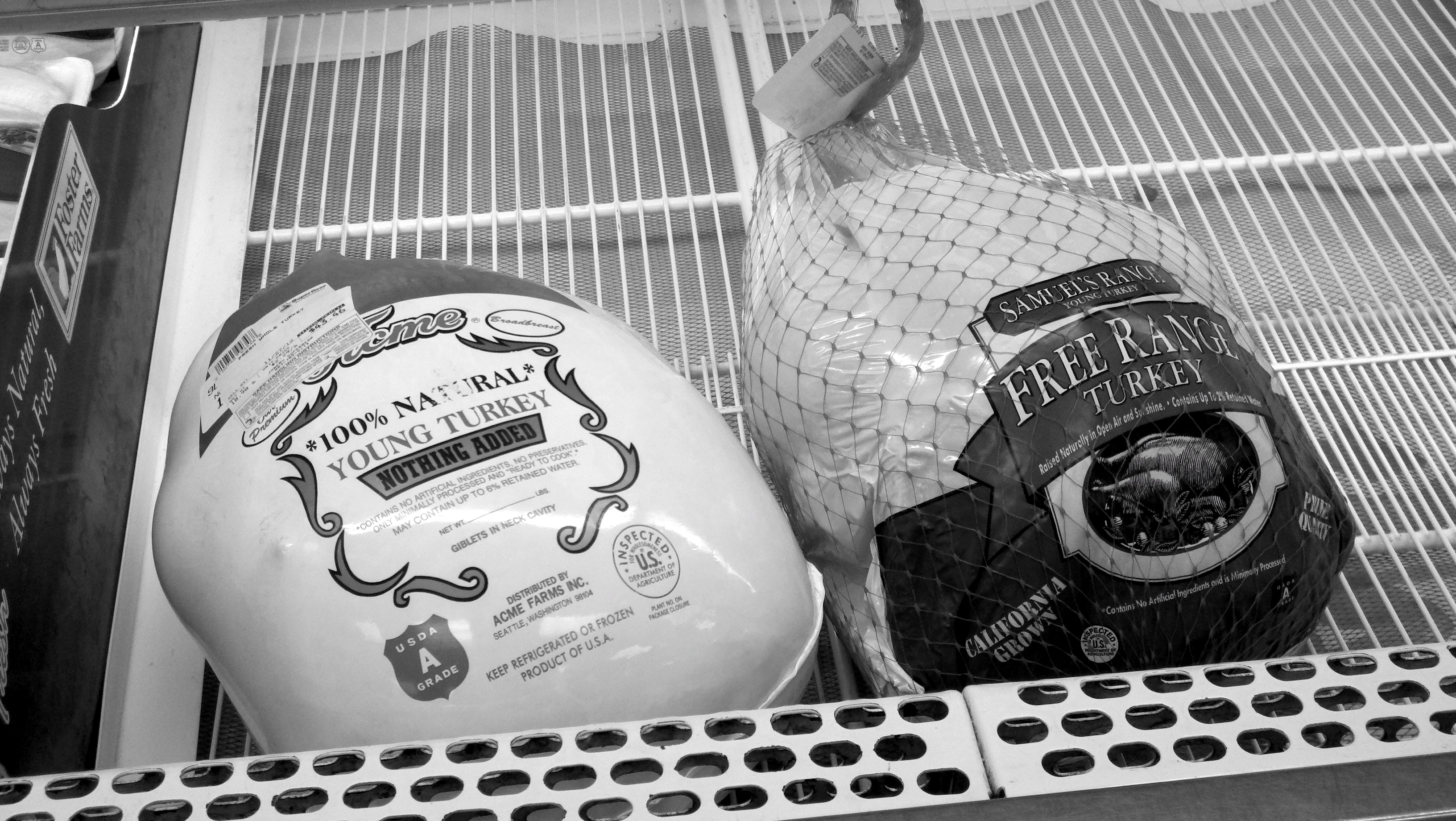 Some Juneau grocery stores started running out of turkeys early this week. (Photo by Rosemarie Alexander/KTOO)
