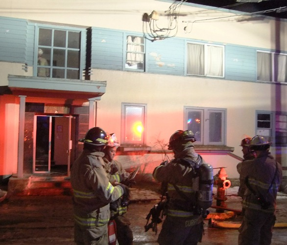 Capital City Firefighters on Wednesday responded to the second fire in three days at the Fosbee apartment building.