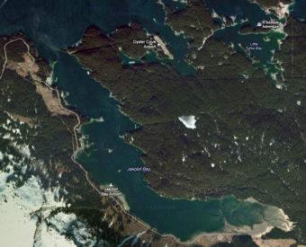 Jakolof Bay map