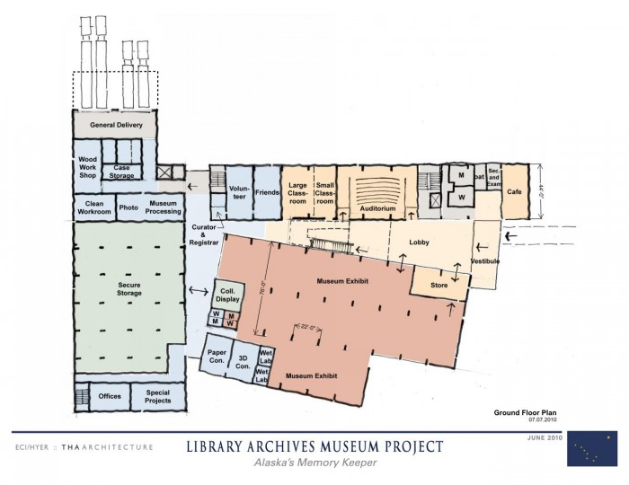 A 2010 drawing of the State Library, Archives and Museum Project in Juneau. It's one of the projects listed in Gov. Seal Parnell's capital budget.