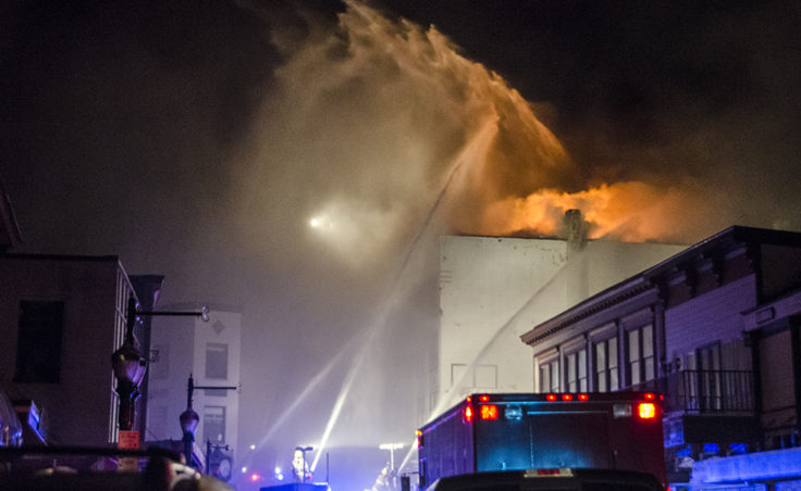 Capital City Fire and Rescue spent the night of Nov. 5 fighting a blaze at the Gastineau Apartments in downtown Juneau. The building was a total loss.