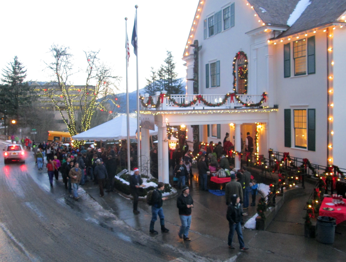 The Governor's house was open yesterday for the annual holiday open house.