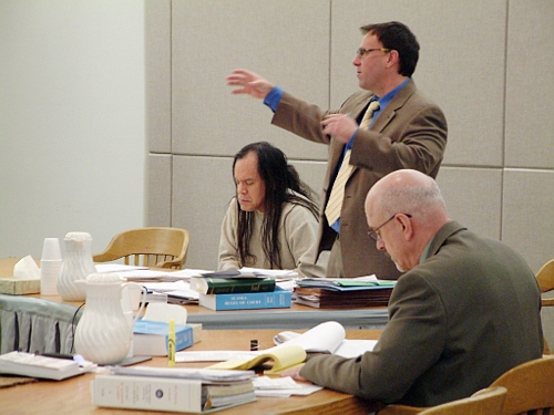 John Marvin, Jr., 47, stands trial for the August 28, 2010 deaths of Hoonah police officers Matt Tokuoka and Tony Wallace. After allegedly shooting both officers, other officers who responded to the scene said that Marvin engaged in a standoff with them for nearly a day before he surrendered.