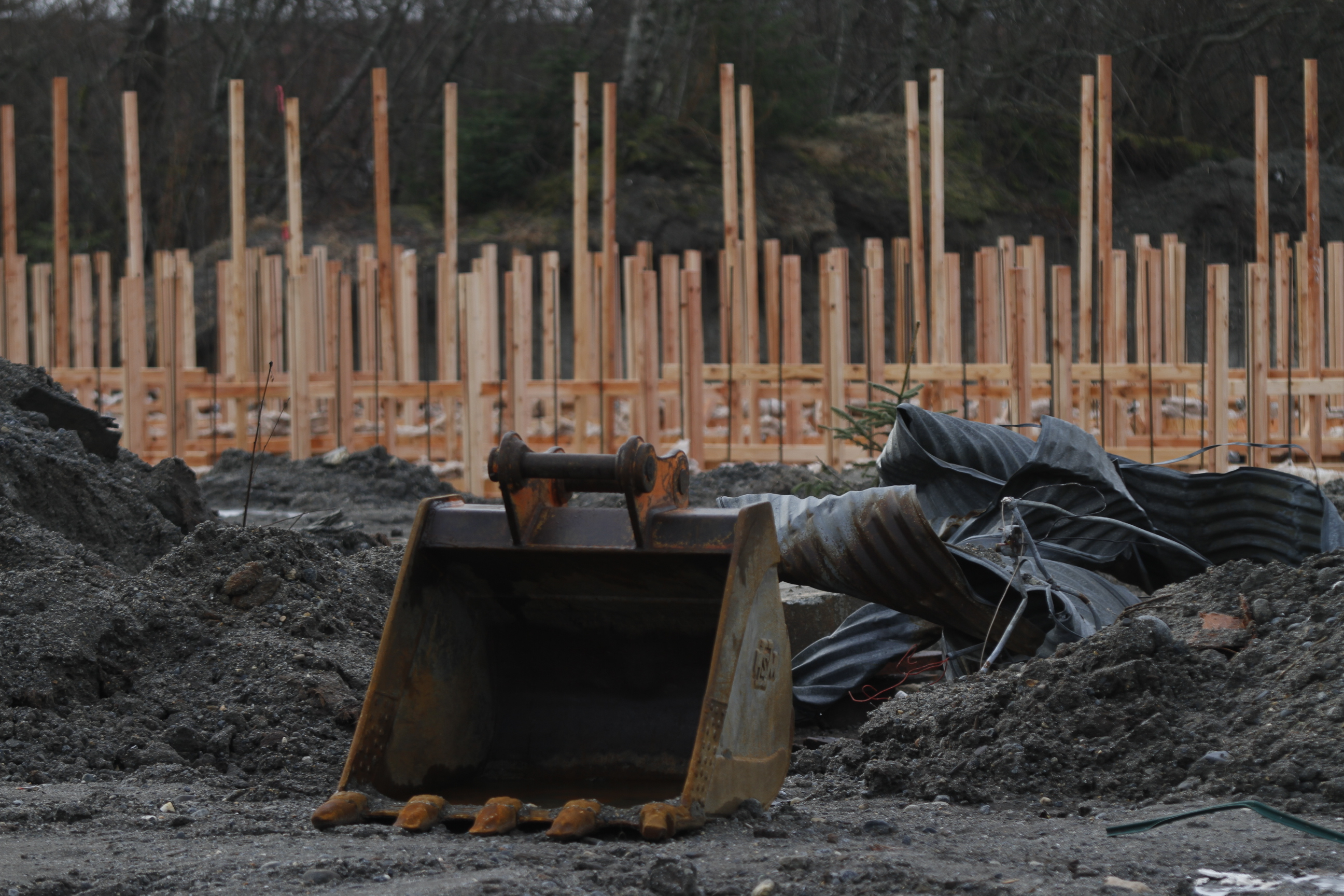 Construction for the indoor gun range has begun at 1720 Crest St. near the Juneau International Airport.
