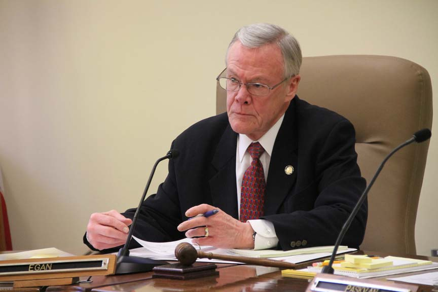 Senator Dennis Egan during a February 2012 meeting of the Senate Labor and Commerce Committee. Courtesy of Egan's Flickr photostream.