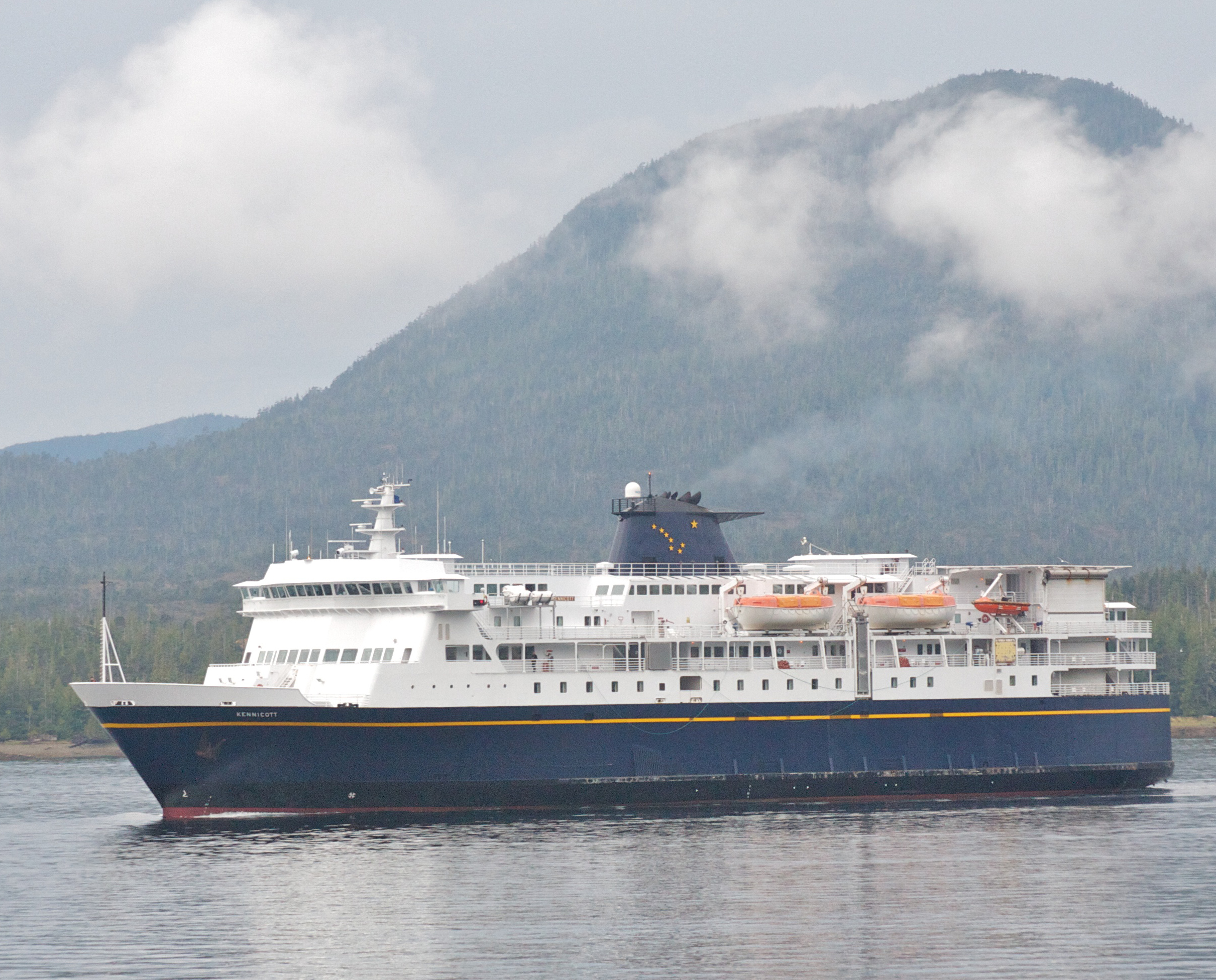 AMHS ferry Kennicott [Alaskan Marine Highway System] Ketchikan strait. (Photo by Jay Galvin/Flickr Creative Commons)