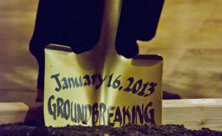 The groundbreaking shovel.