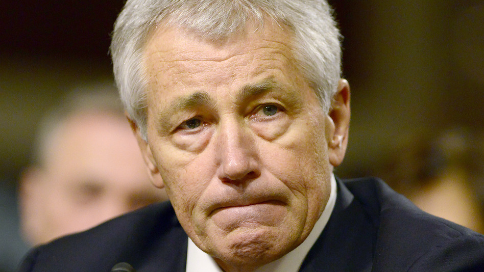 Former Sen. Chuck Hagel, R-Neb., who has been nominated to be the next secretary of defense. Ron Sachs /DPA /LANDOV