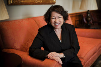 Supreme Court Justice Sonia Sotomayor spoke with NPR in December at the Supreme Court in Washington, D.C. Kainaz Amaria/NPR