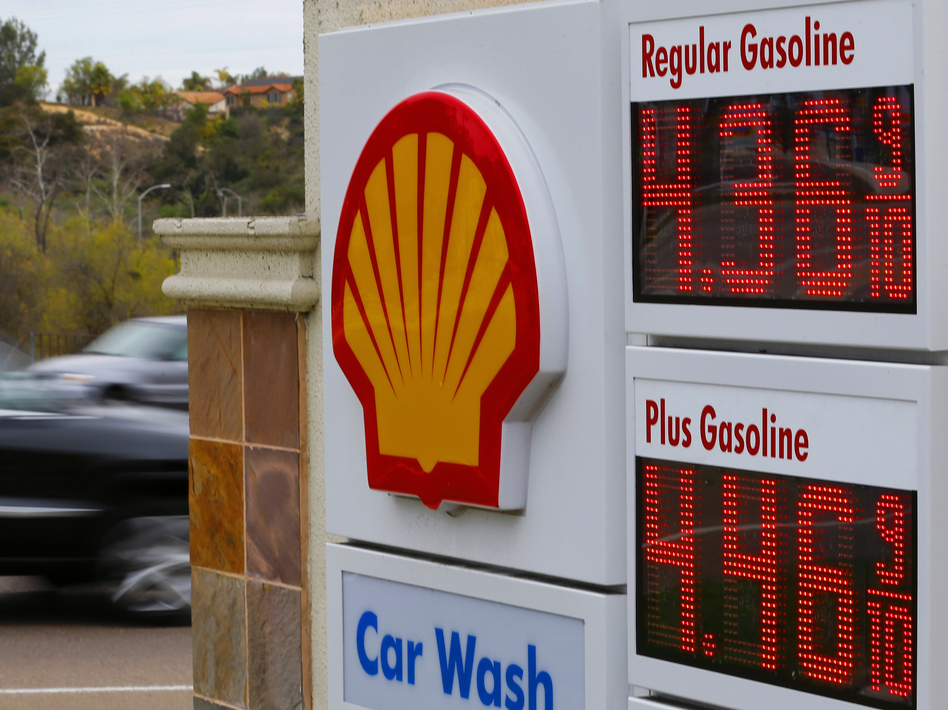 Gasoline prices at a station in Encinitas, Calif., earlier this week. Mike Blake/Reuters /Landov