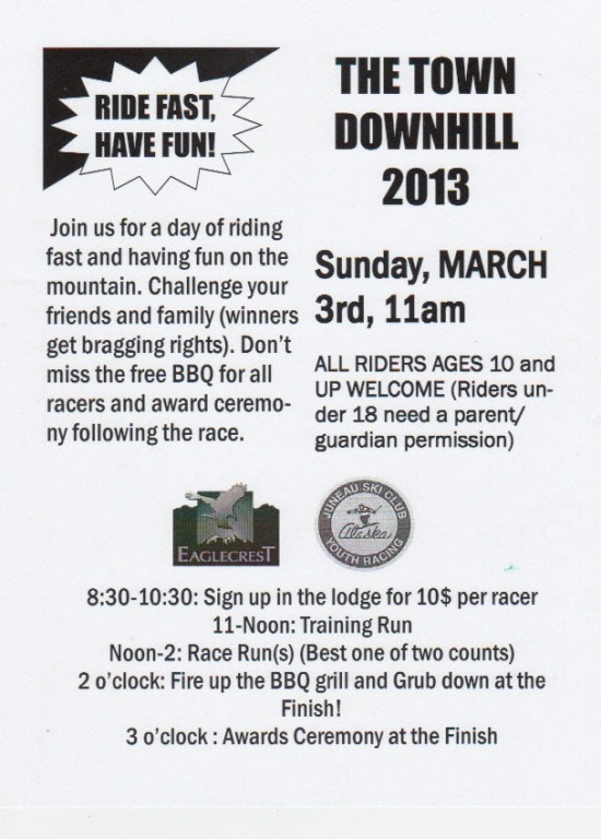 Town Downhill 2013 Poster