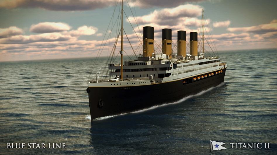 An artist's image of the Titanic II. Blue Star Line/UPI /Landov
