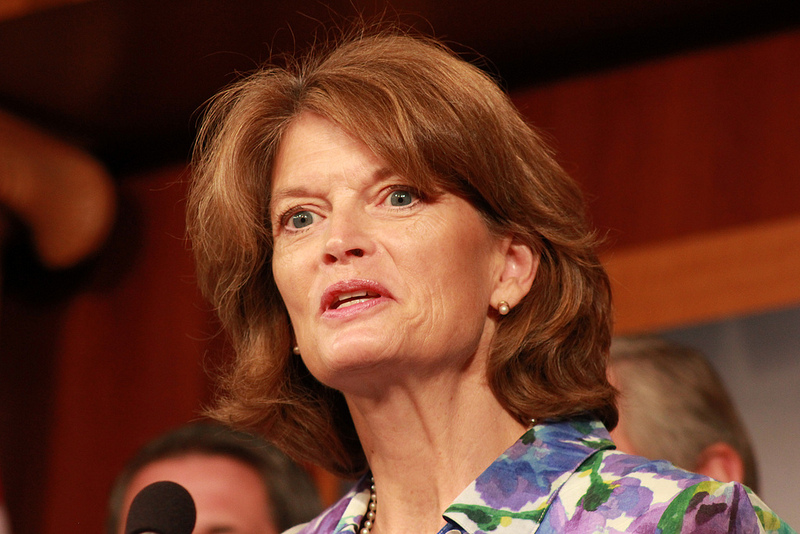 Sen. Lisa Murkowski, R-Alaska, during a news conference to unveil domestic energy and jobs legislation at the Senate Radio/TV Gallery, U.S. Capitol