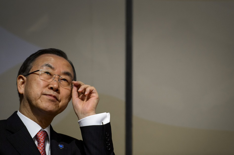 U.N. Secretary-General Ban Ki-moon. Fabrice Coffrini /AFP/Getty Images