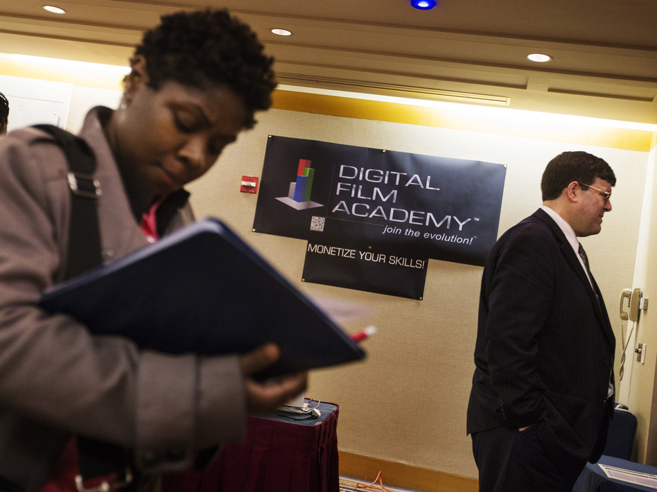 The scene at a job fair in New York City on Feb. 28. Lucas Jackson /Reuters /Landov