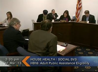 Wes Keller makes his case for the bill to the House Health and Social Services committee.